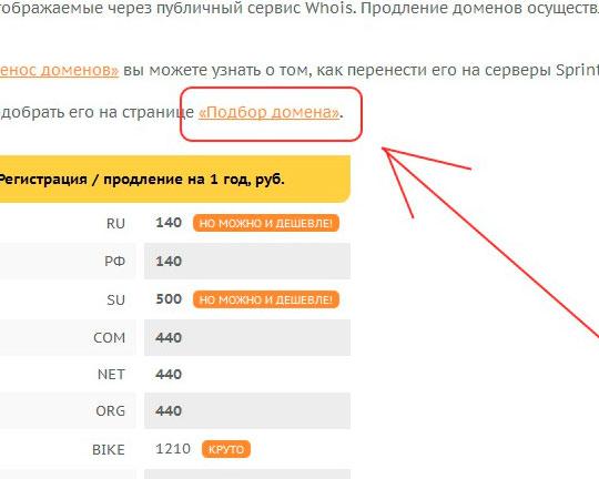 Выбираем-подбор-домена